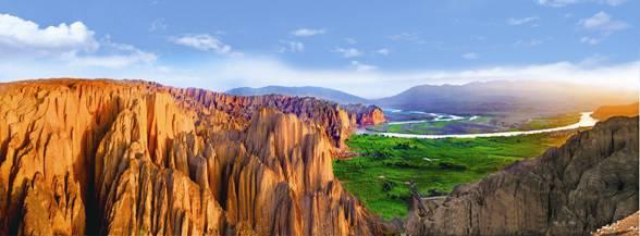 位于甘肃省白银市景泰县,靖远县黄河流经段,距甘肃省会兰州市130公里.