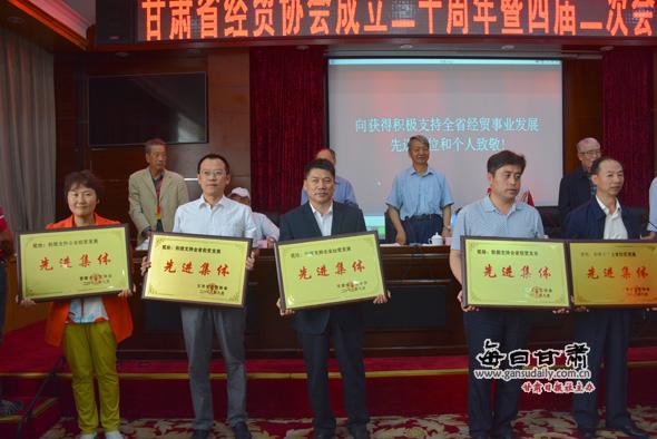 甘肃省经贸协成立20周年暨四届二次员代武术名片设计图片