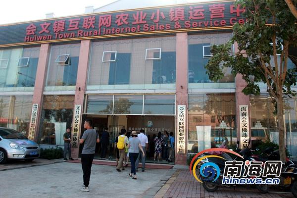 全国融媒体海南行记者走进文昌会文互联网农业小镇