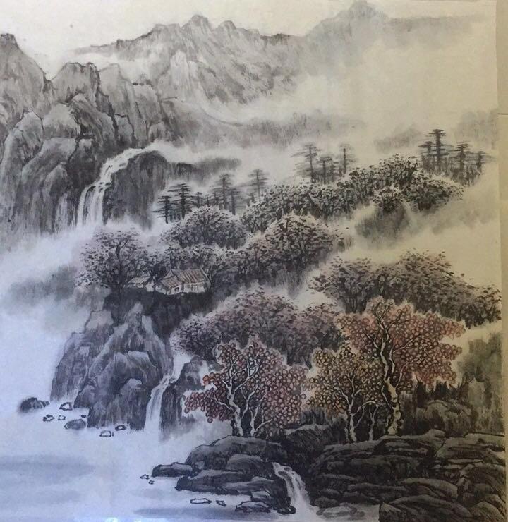 王瑞花中国山水画作品赏析(组图)