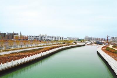 临泽县流沙河景区碧波荡漾
