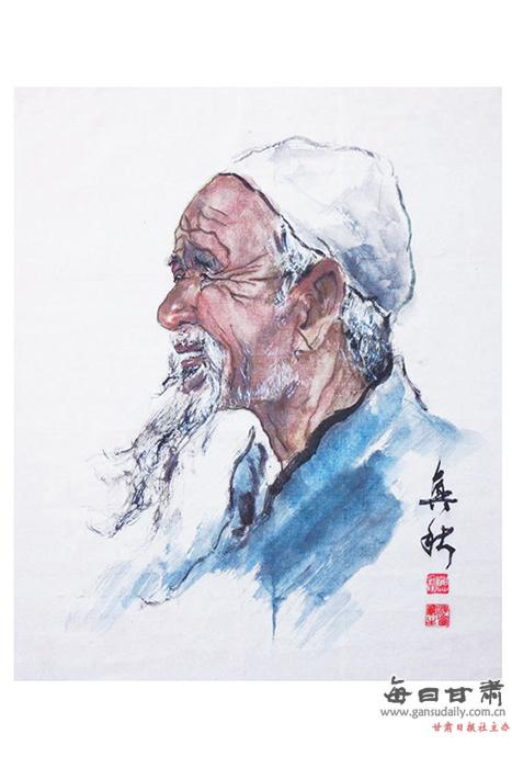 【大敦煌】邵兴秋写意人物画赏析