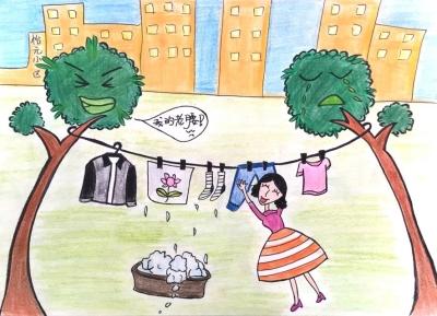 """""""近日,在安宁区银滩路街道,手绘漫画《文明如""""画""""》在干部们的""""朋友圈"""