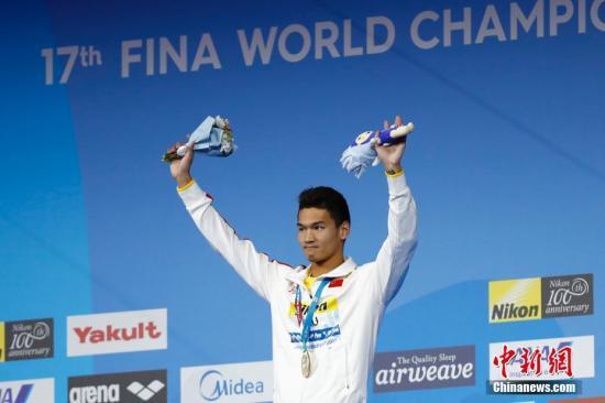 间7月25日,2017国际泳联世锦赛男子100米仰泳决赛在布达佩斯举