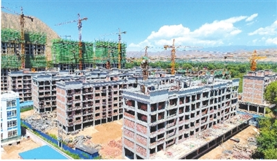 广河县三甲集镇康家村易地扶贫搬迁安置点项目建设进展顺利