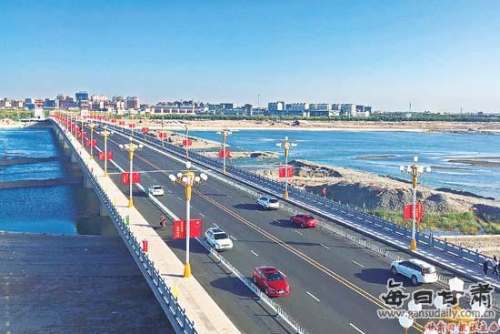 黑河大桥正式建成通车(图)