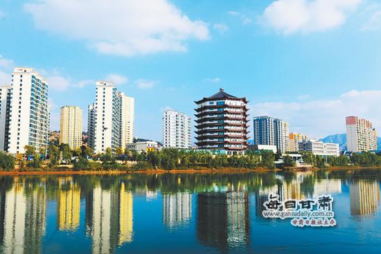 刘家峡镇八卦岛开发区新貌