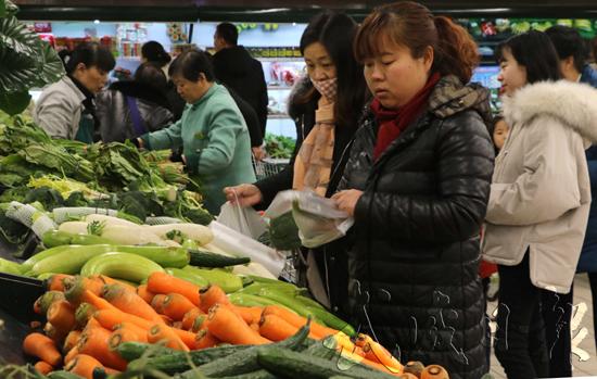 蔬菜市场各类反季节蔬菜供应充足