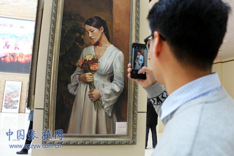 祁连画院美术展在张掖举行