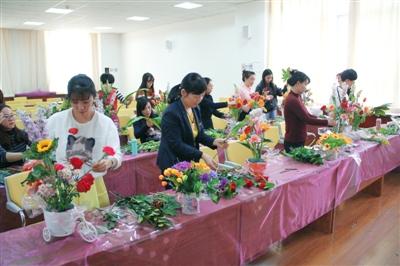 嘉峪关市公共资源交易中心开展花艺插花活动