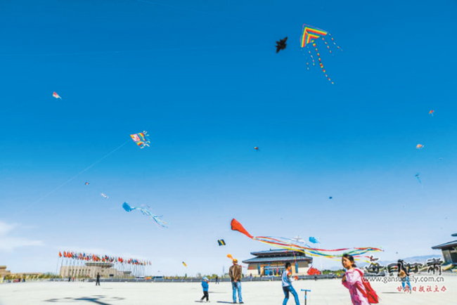第二届敦煌国际风筝节开幕