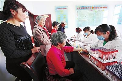 高台县助力健康扶贫为困难人群进行免费体检