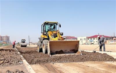 西峰北京大道北延伸段项目正在紧张进行施工