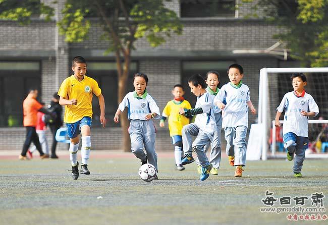 兰州市东郊学校举行春季田径运动会暨足球嘉年华活动