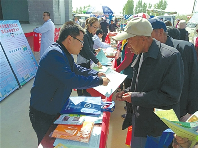 高台县宣化镇开展社保政策宣讲