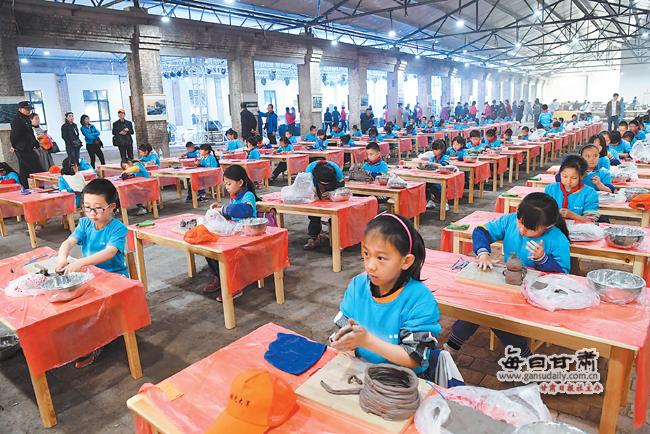 白银市平川区中小学生陶艺大赛在陶瓷小镇开赛