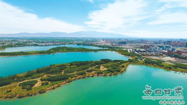 【图片新闻】张掖国家湿地公园成为休闲赏景好去处