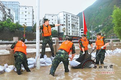陇南近日防汛形势严峻
