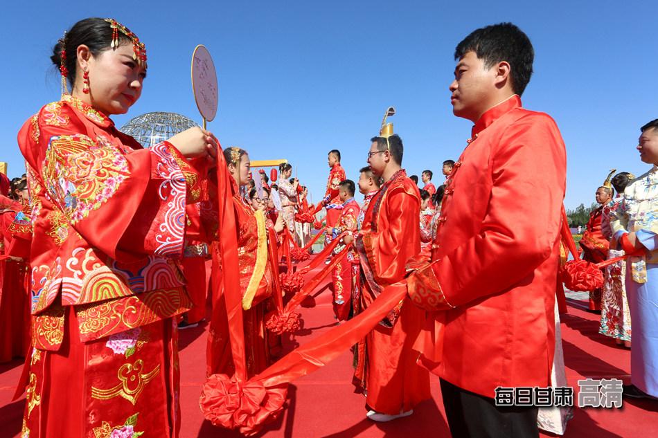 金昌为99对新人举行纯中式集体婚礼(组图)