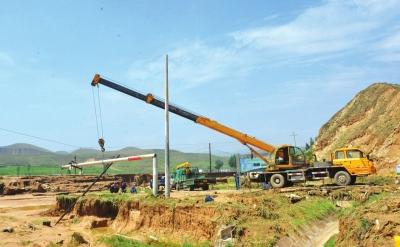皋兰县水阜镇3条主线路已全部恢复供电