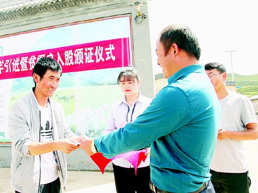 """""""临潭肉羊产业扶贫基地""""揭牌成立"""