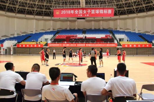 全国女篮锦标赛(白银赛区)开赛
