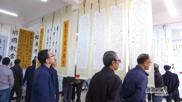 """靖远县举办""""乌兰情 杏坛墨韵""""第五届师生书画展"""