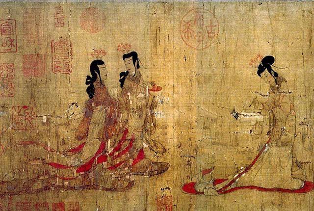 03、《女史箴图》·局部/顾恺之 原有12段,现存仅剩9段,绢本设色,藏于大英博物馆