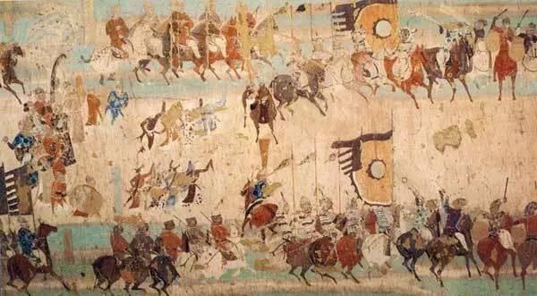 10、《张议潮统军出行图》/莫高窟壁画
