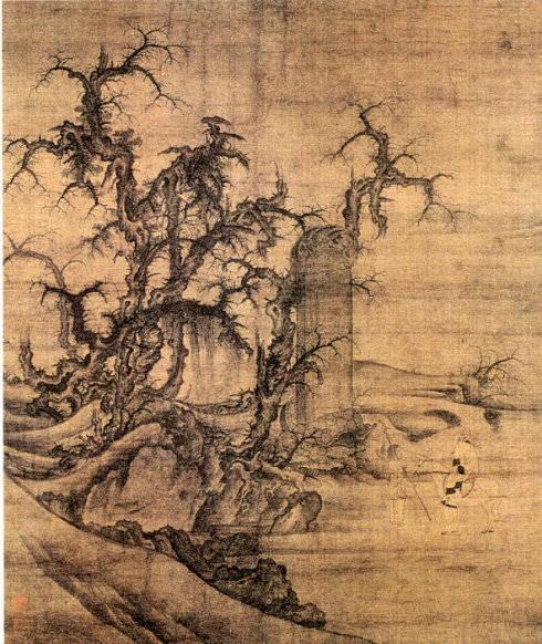 34、《读碑窠石图》/李成