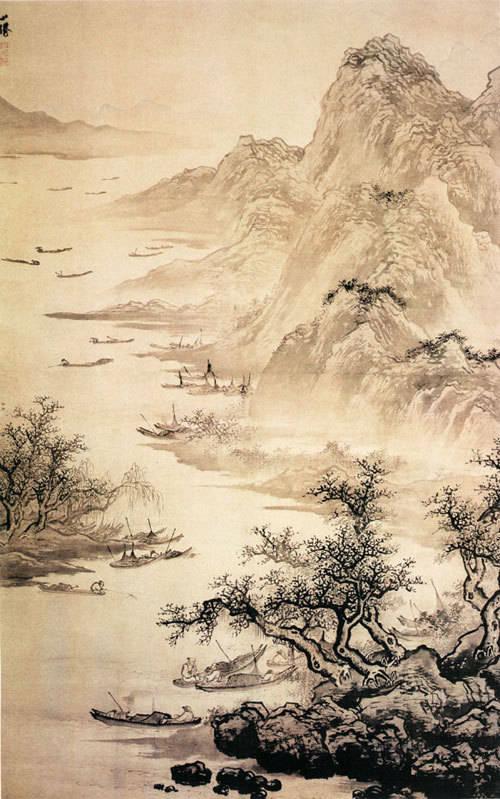 71、《渔乐图》/吴伟