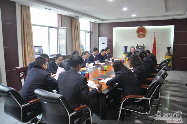 平川区人民法院第一党支部召开专题党课