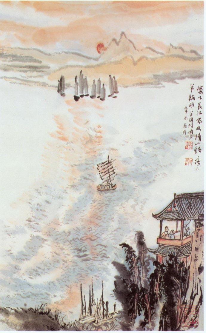 山水画家陆俨少《杜甫诗意画百开册页》欣赏