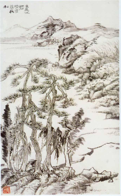 山水画家陆俨少《杜甫诗意画百开册页》欣赏【49】