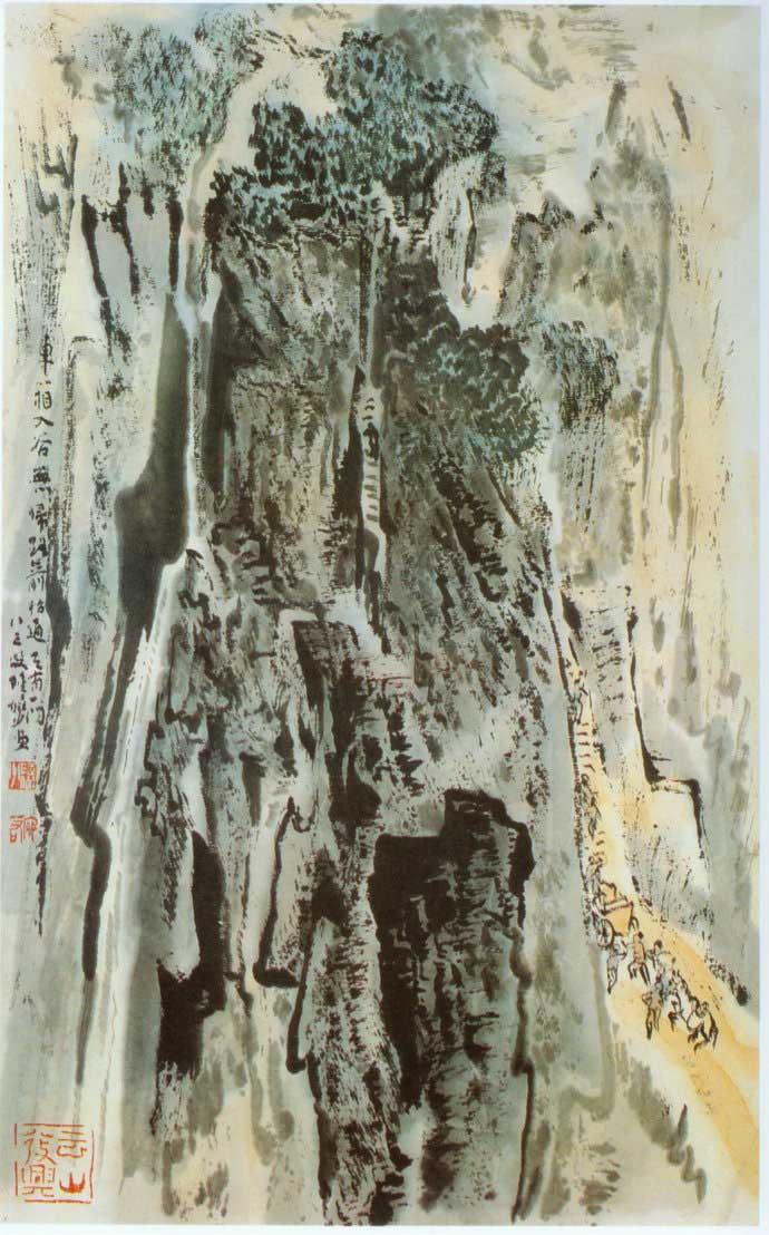山水画家陆俨少《杜甫诗意画百开册页》欣赏【75】