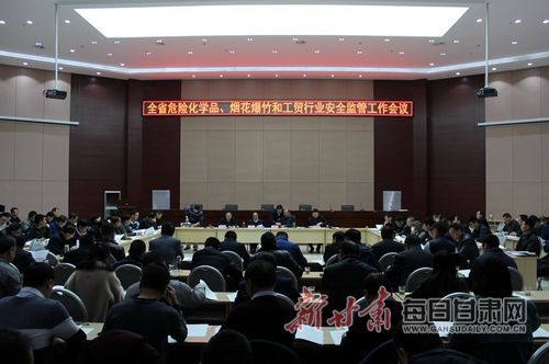 全省危化品、烟花爆竹和工贸行业安全监管工作会议在兰召开
