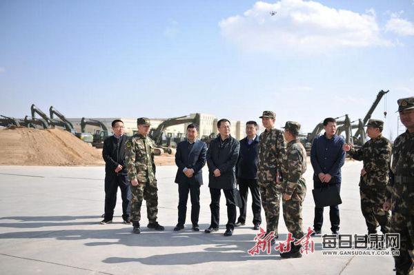 甘肃省应急管理厅与驻军某部对接抢险救援工作