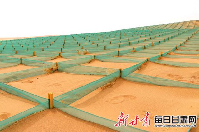 """民勤造""""沙漠旅游""""廊道 风沙线变风景线(图)"""