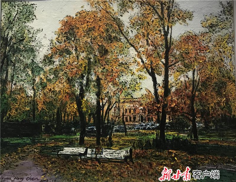 心中风景,关宏臣油画作品兰州邀请展开展