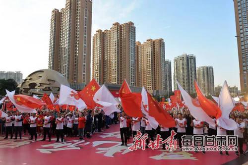 公益十月,甘肃中可人用夜跑为祖国祝福!