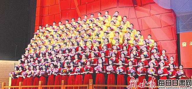 兰州演艺集团参演庆祝中华人民共和国70周年活动台前幕后