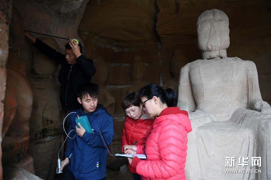 (社会)(3)常态化检测 保护北石窟