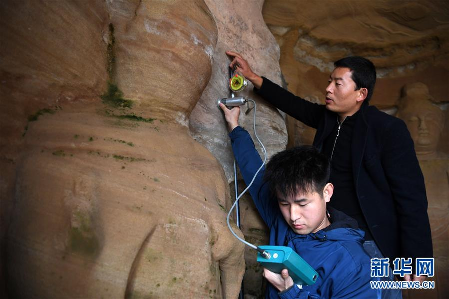 (社会)(1)常态化检测 保护北石窟