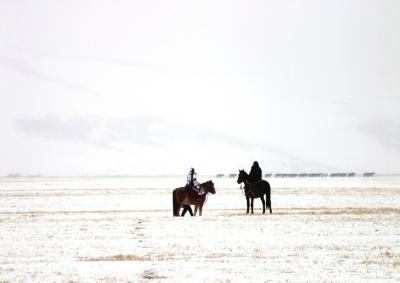 甘肅山丹馬場降雪 可有效緩解當地旱情