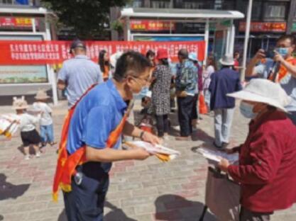 平凉市应急管理局进社区开展安全防灾宣传服务