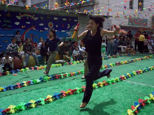 武威市实验幼儿园举办主题运动会图片